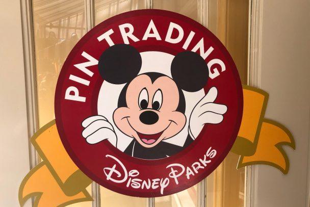 Pin Trading Sign.